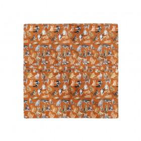 Batistă cu imprimeu animale domestice - pisici
