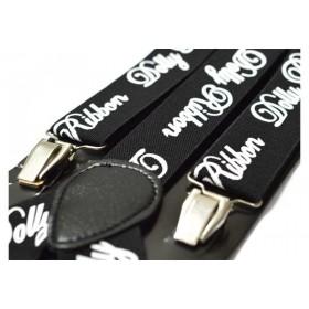 Bretele barbati negre Ribbon 131