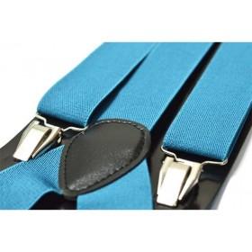 Bretele barbati, bleu turcoaz, uni 137
