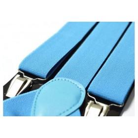 Bretele barbati albastre uni