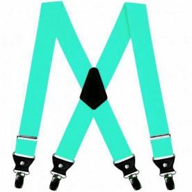 Bretele duble, verde menta, 4 cm