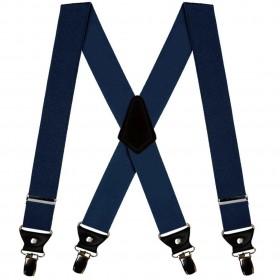 Bretele bleumarin duble, barbati, 120/4cm