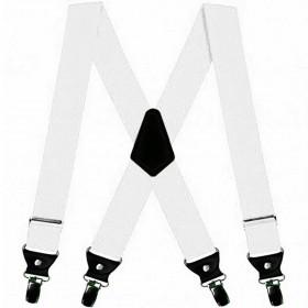 Bretele extra late albe, duble, 5cm