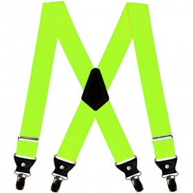 Bretele extra late verde neon, 5 cm, duble, 1973