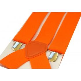 Bretele barbati portocalii uni 356
