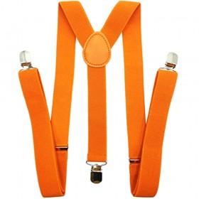 Bretele barbati portocalii uni