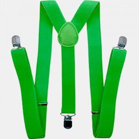 Bretele barbati, verde deschis, 3.5cm