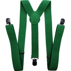Bretele barbati verde imperial 3.5cm