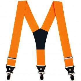 Bretele extra late, simple, portocalii, 5 cm