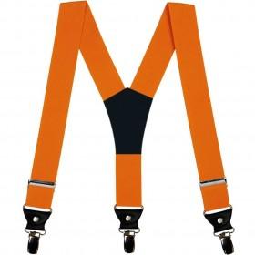 Bretele barbati portocalii, 4 cm