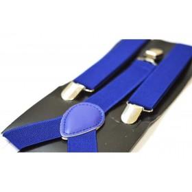 Bretele copii albastre uni