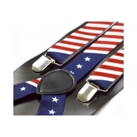 Bretele dama, model American Flag