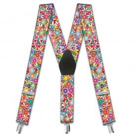 """Bretele dama, personalizate, model """"Floral Multicolor"""""""