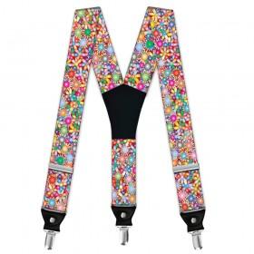 "Bretele personalizate, model ""Floral Multicolor"""