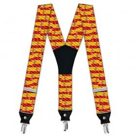 "Bretele pantaloni, design ""Steagul Spaniei"""