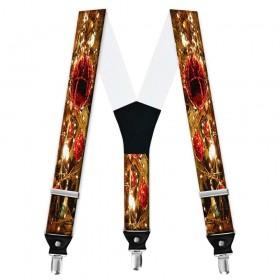 Bretele personalizate, model decorațiuni Crăciun