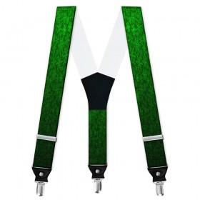 Bretele pantaloni personalizate, tematic Craciun model stelute verzi