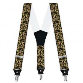 Bretele personalizate, model camuflaj Woodland