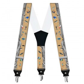 Bretele pantaloni personalizate, pescuit, fir intins