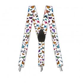 """Bretele copii, imprimeu """"Fluturi multicolori"""""""