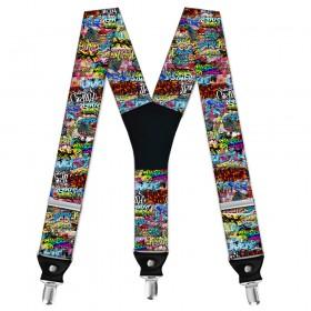 """Bretele personalizate, """"Arta Urbana - Graffiti"""""""