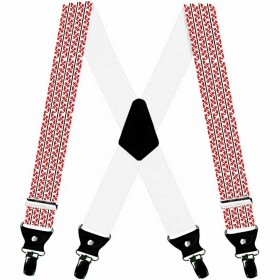Bretele pantaloni personalizate, traditional romanesc, rosii