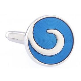 Butoni camasa rotunzi cu model albastru