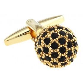 Butoni camasa aurii cu pietricele negre
