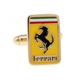 Butoni camasa aurii cu model sigla Ferrari