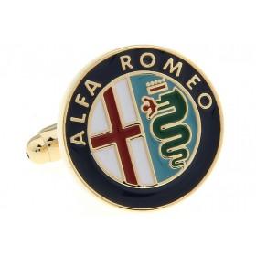 Butoni camasa aurii cu model sigla Alfa Romeo
