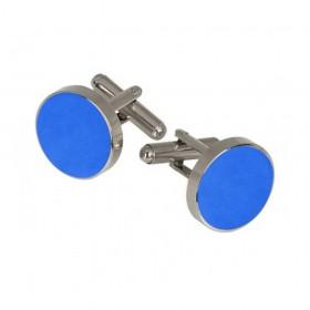 Butoni camasa albastru-electric, montura argintie