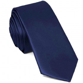 Cravata barbati ingusta bleumarin uni