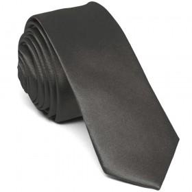 Cravata barbati ingusta gri uni
