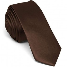 Cravata barbati ingusta maro uni