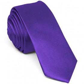 Cravata barbati ingusta mov uni
