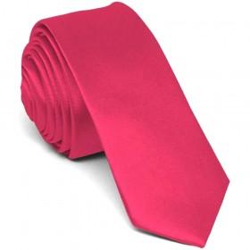 Cravata barbati ingusta roz uni