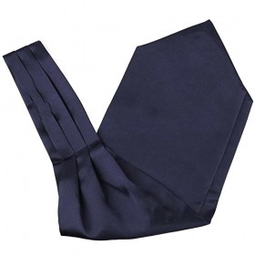 Cravata ascot bleumarin