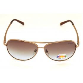 Ochelari de soare rama metalica aramie lentila maro UV400 60002