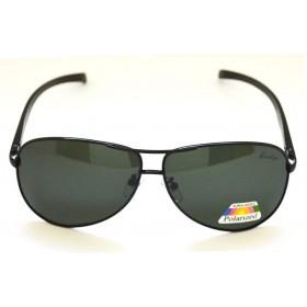 Ochelari de soare rama metalica neagra lentila verde UV400 60005