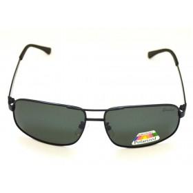Ochelari de soare rama metalica neagra lentila verde inchis UV400