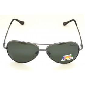 Ochelari de soare rama metalica neagra lentila gri UV400 60007