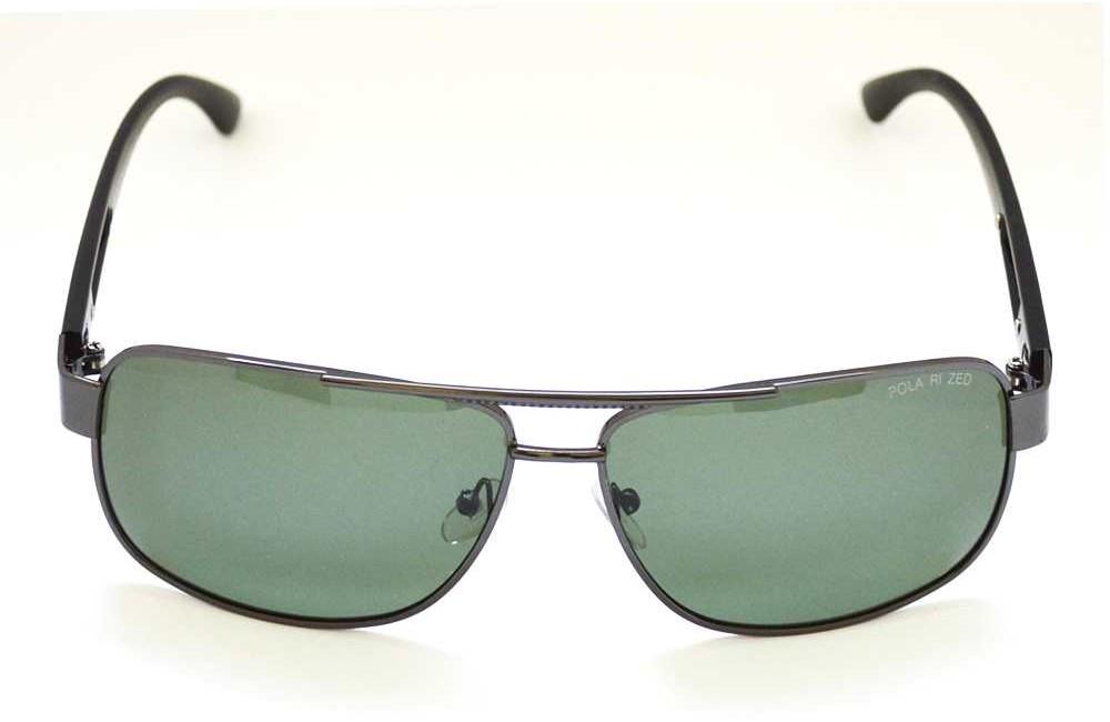 cele mai bune preturi preturi de lichidare preț mai mic cu Ochelari de soare rama metalica gri inchis lentila verde UV400 ...