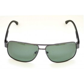 Ochelari de soare rama metalica gri inchis lentila verde UV400 60008