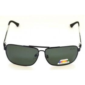 Ochelari de soare rama metalica gri lentile verzi UV400 60009