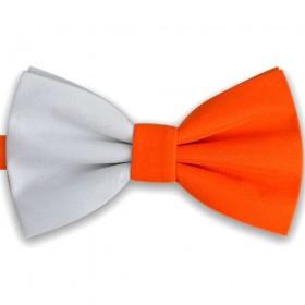 Papion bicolor alb - portocaliu