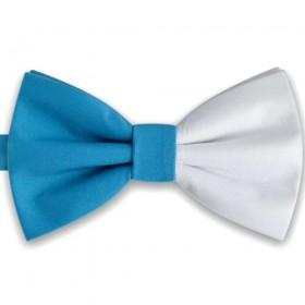 Papion bicolor, alb - bleu