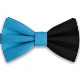 Papion bicolor bleu - negru