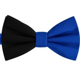 Papion bicolor albastru - negru