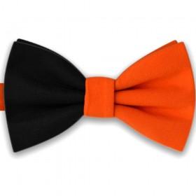 Papion bicolor portocaliu - negru