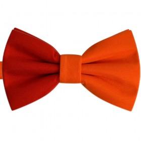 Papion bicolor rosu - portocaliu